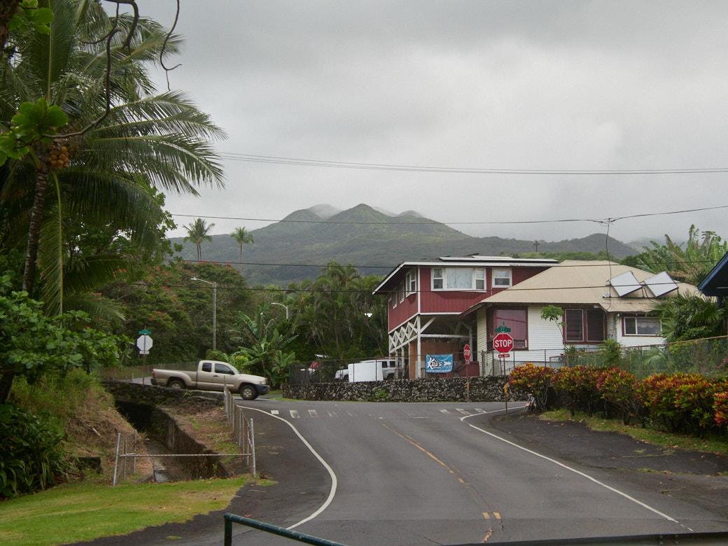 The corner near Hana Bay Park, an average corner in Hana.