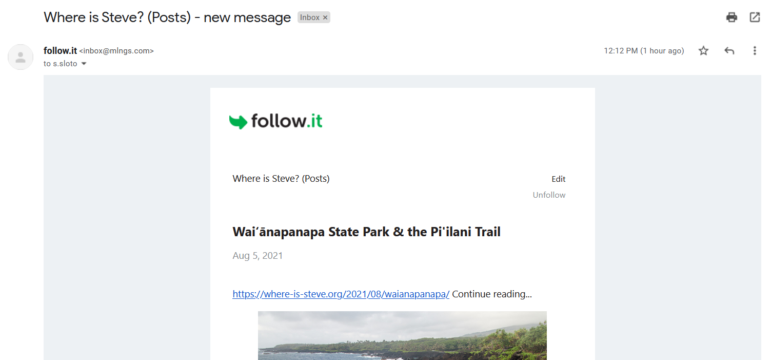 It's formatted nicely enough, but that subject line...