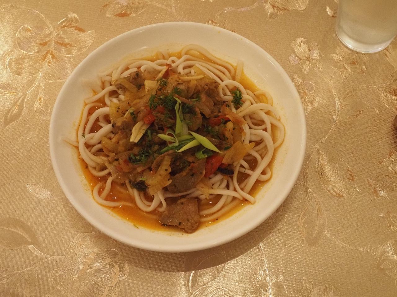Lagman, from a neighborhood Uyghur restaurant